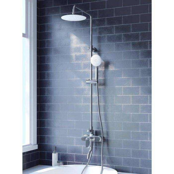 Фото Смеситель для ванны с верхним душем, IDDIS Cloud CLOSB00i06, хром/белый 1