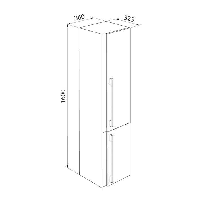 Фото Пенал для ванной комнаты, подвесной, 36 см, IDDIS Color Plus COL3600i97, белый 2