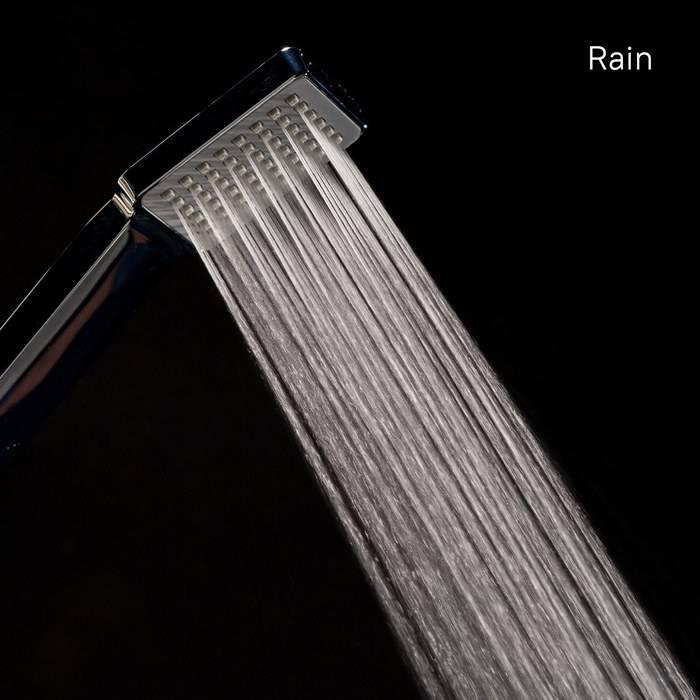 Фото Лейка для душа 1F квадратная, ширина 64,5 мм IDDIS Hand Shower A11012 3