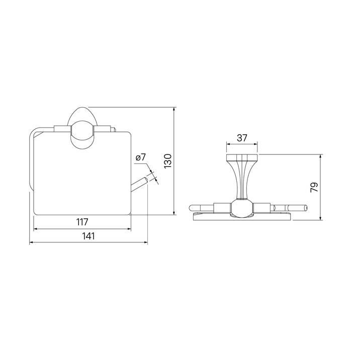 Фото Держатель для туалетной бумаги с крышкой, сплав металлов, IDDIS Male MALSSC0i43, глянцевый хром 3