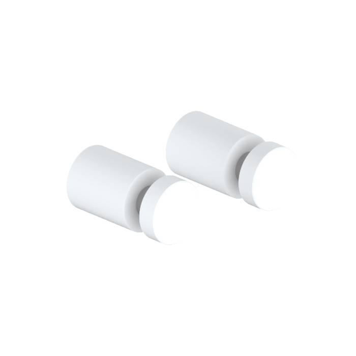 Фото Комплект одинарных крючков, сплав металлов, IDDIS Petite PET2SW1i41, белый матовый 0