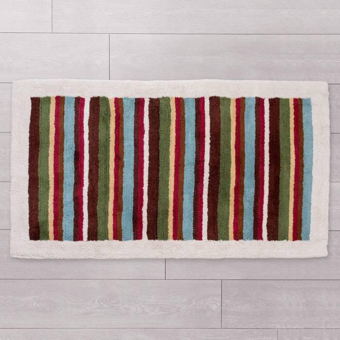 Фото Набор ковриков для ванной комнаты, 70x120+50x50 см, Хлопок, IDDIS 440C512i13 2