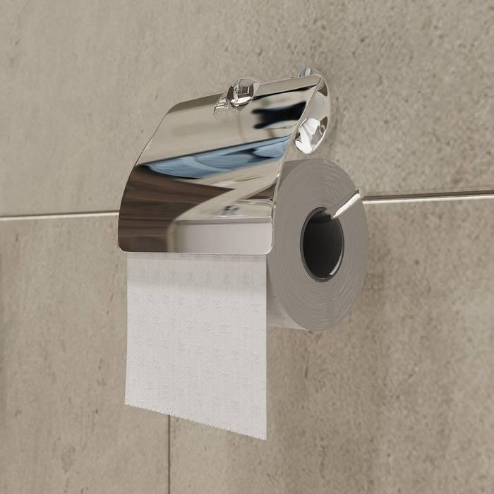 Фото Держатель для туалетной бумаги с крышкой, сплав металлов, IDDIS Male MALSSC0i43, глянцевый хром 1