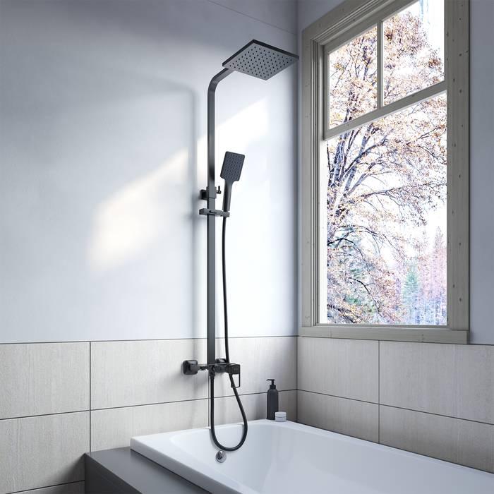 Фото Смеситель с верхним душем, IDDIS Bild BILBL1Fi06, черный 1