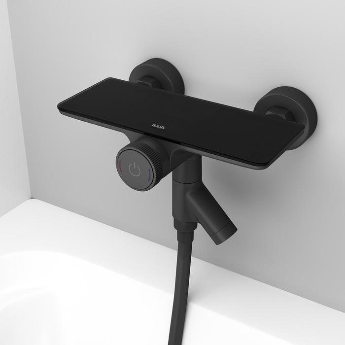 Фото Смеситель для ванны с управлением IDDIS Shelfy SHEBLBTi02WA, черный матовый 13