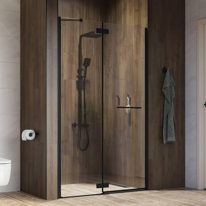 Фото Душевая дверь распашная, алюминиевый профиль 120х195, IDDIS Slide SLI6BH2i69, черный 4