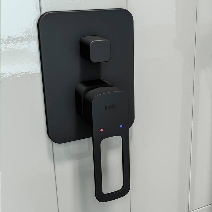 Фото Встраиваемый смеситель с двумя выходами, IDDIS Slide SLIBL00i67, черный 2