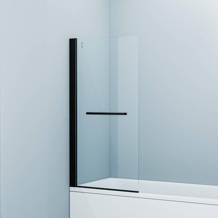 Фото Шторка на ванну, алюминиевый профиль 75х145, IDDIS Slide SLI5BS7i90, черный 0