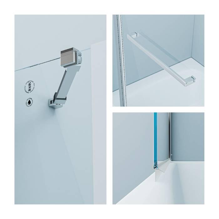 Фото Шторка на ванну, глянцевый алюминиевый профиль 100х140, IDDIS Ray RAY6CS0i90 1