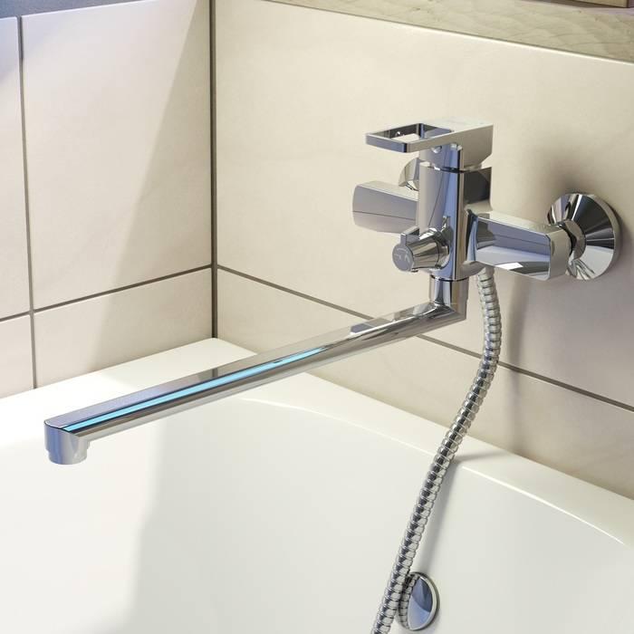 Фото Смеситель для ванны с длинным изливом, IDDIS Bild BILSB00i10WA 1
