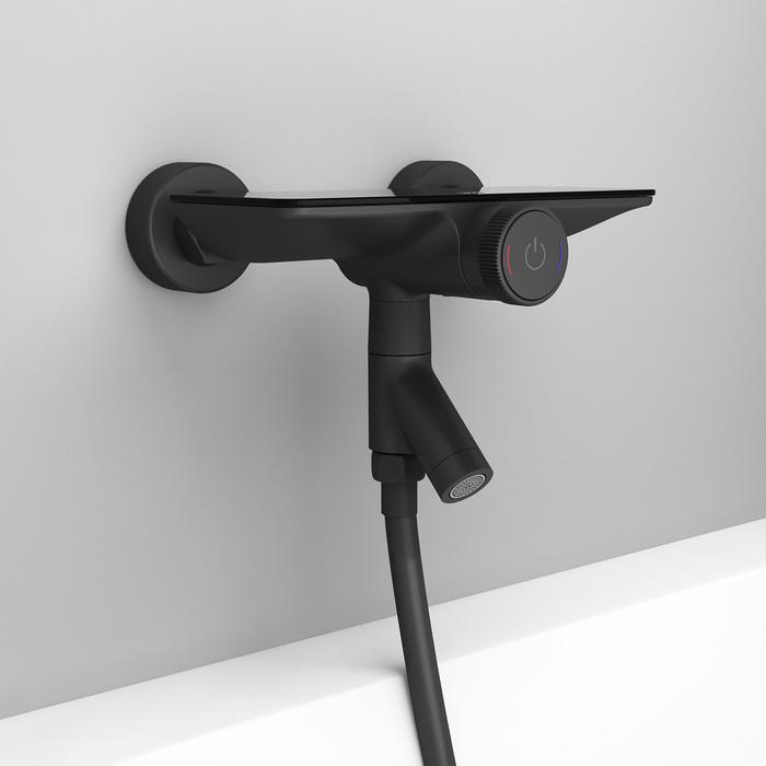 Фото Смеситель для ванны с управлением IDDIS Shelfy SHEBLBTi02WA, черный матовый 11