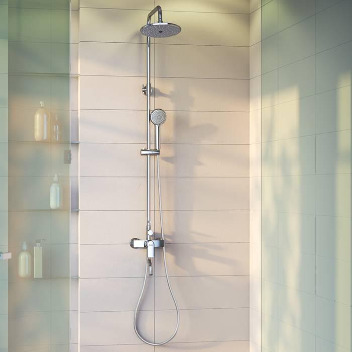 Фото Смеситель для ванны с верхним душем, IDDIS Edifice EDISB3Fi06 5
