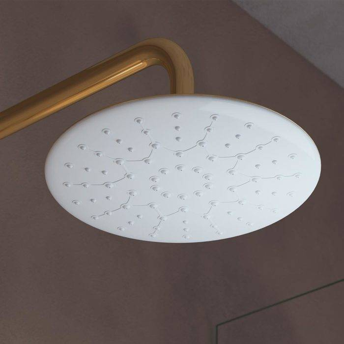 Фото Смеситель для ванны с верхним душем, IDDIS Cloud CLOWG00i06, золото/белый 4