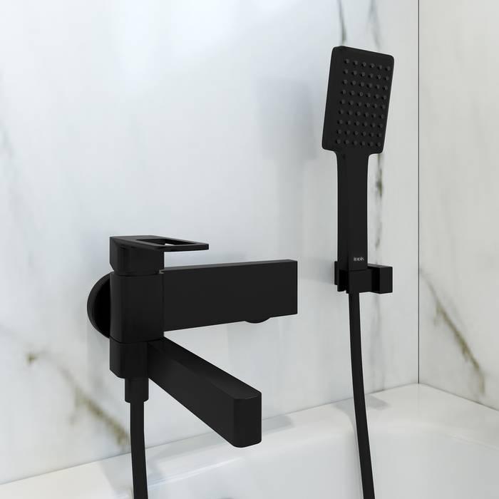 Фото Смеситель для ванны IDDIS Slide SLIBL00i02, черный 2