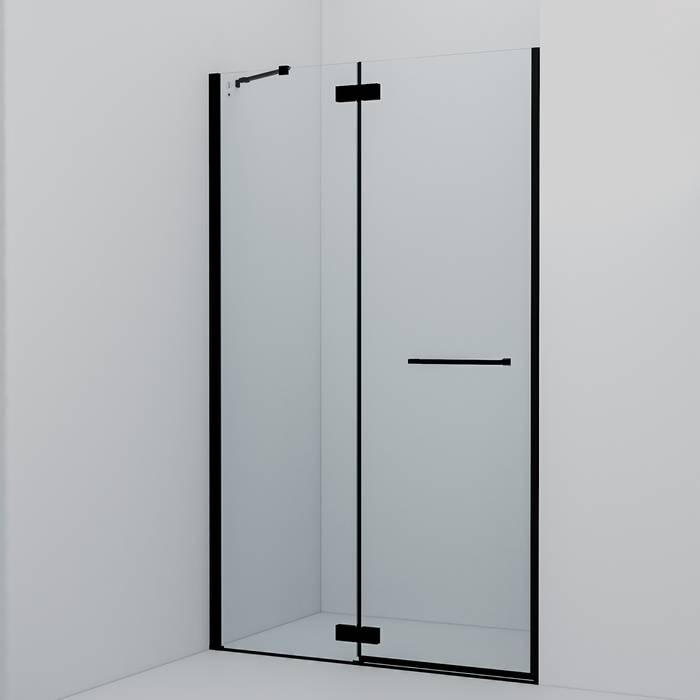 Фото Душевая дверь распашная, алюминиевый профиль 120х195, IDDIS Slide SLI6BH2i69, черный 0