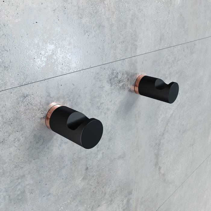 Фото Комплект одинарных крючков, сплав металлов, IDDIS Petite PET2SR1i41, черный матовый с розовым золотом 1