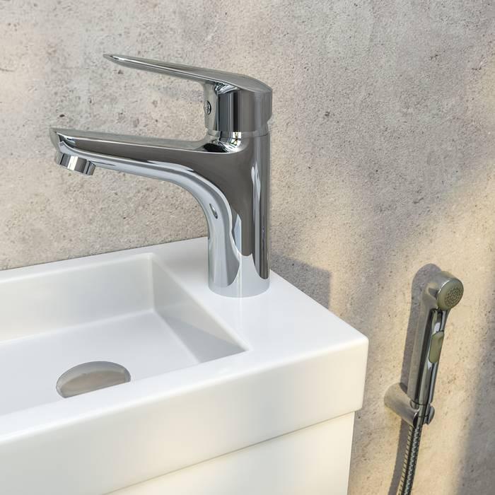 Фото Смеситель для умывальника с гигиеническим душем, IDDIS Torr TORSB00i08 3