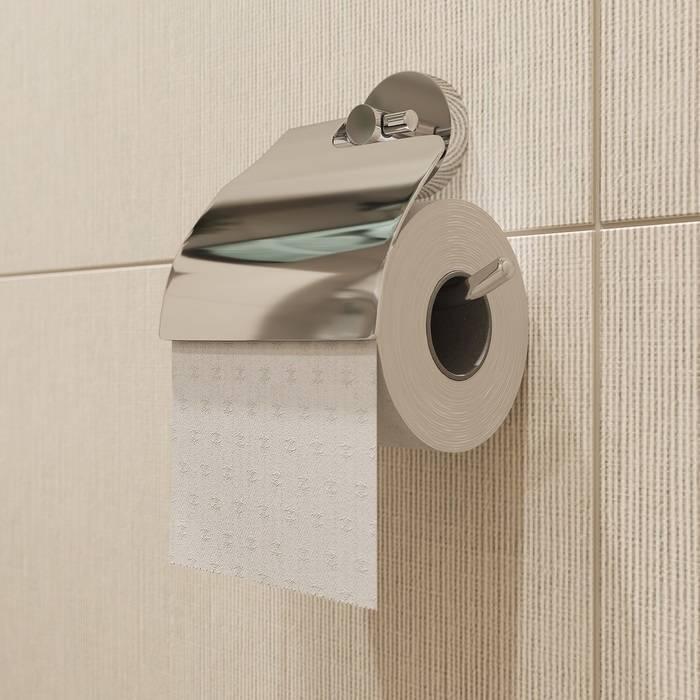 Фото Держатель для туалетной бумаги с крышкой, сплав металлов, IDDIS Sena SENSSC0i43, глянцевый хром 1