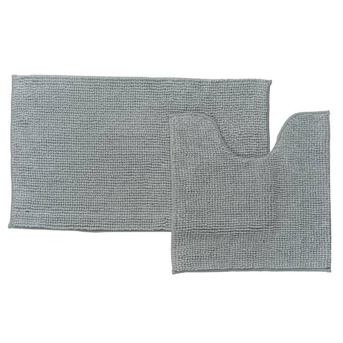 Фото Набор ковриков для ванной комнаты, 50x80 + 50x50 см, шенилл, IDDIS Promo P38M580i12 0