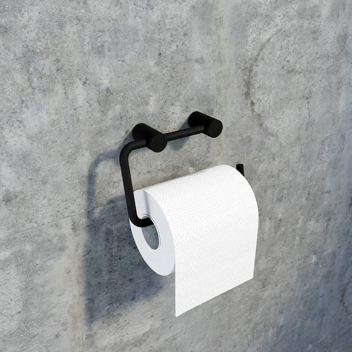 Фото Держатель для туалетной бумаги без крышки, сплав металлов, IDDIS Petite PETBL00i43, черный матовый 1