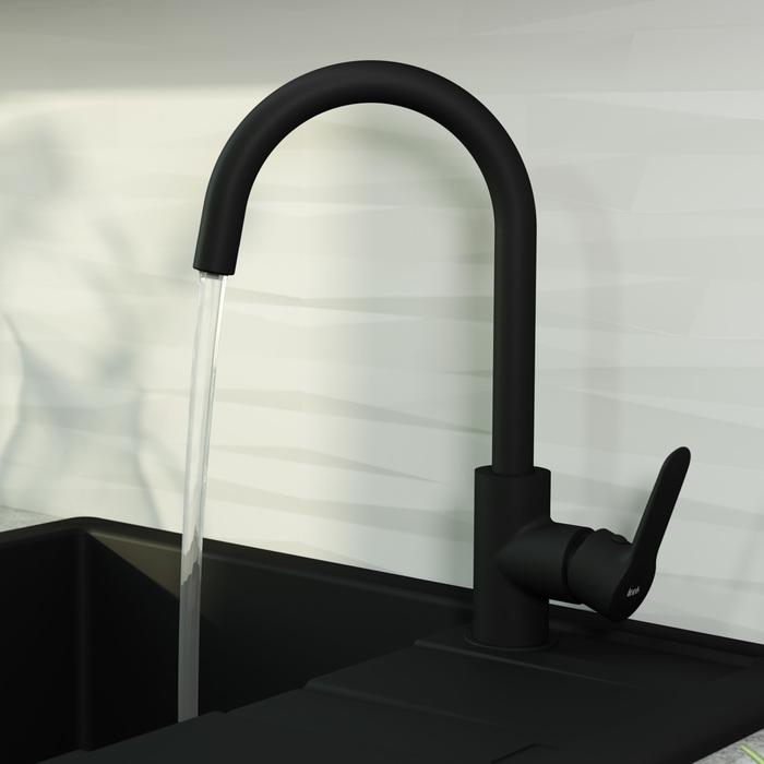 Фото Смеситель для кухни с каналом для фильтрованной воды, IDDIS Cuba CUBBLFJi05, черный 4