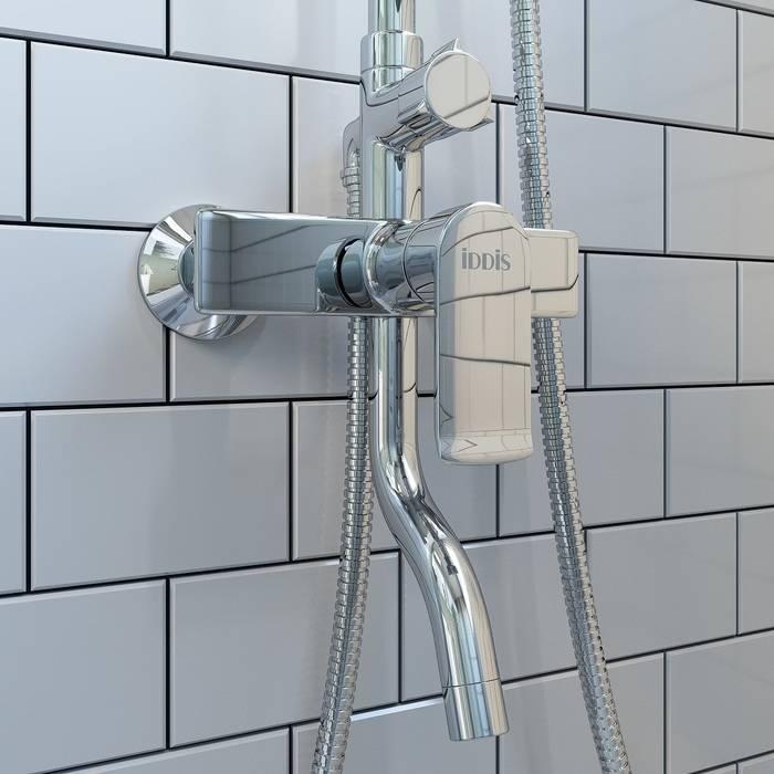Фото Смеситель для ванны с верхним душем, IDDIS Edifice EDISB3Fi06 2
