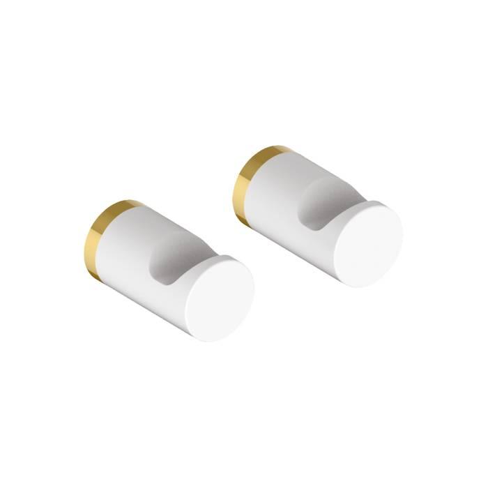 Фото Комплект одинарных крючков, сплав металлов, IDDIS Petite PET2SY1i41, белый матовый с желтым золотом 0