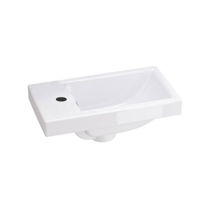 Фото Тумба с умывальником для ванной комнаты, подвесная, 40 см, IDDIS Torr TOR40W1i95K, белая 2