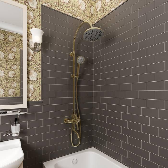 Фото Смеситель для ванны с верхним душем, IDDIS Oldie OLDBR3Fi06 1