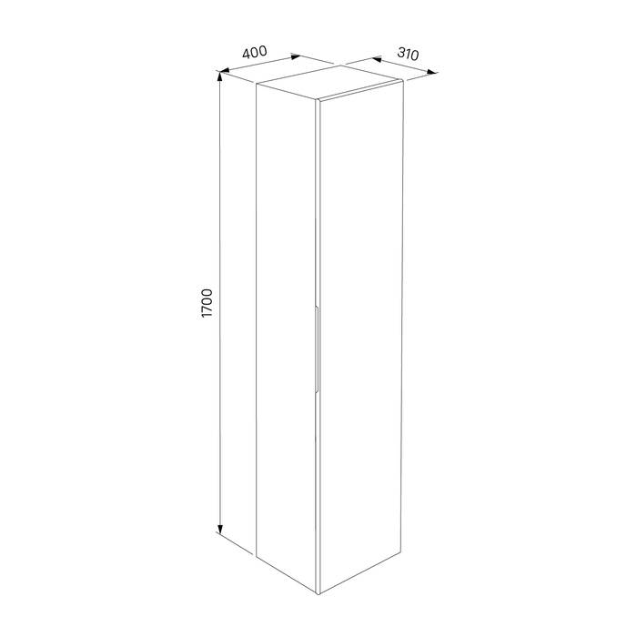 Фото Пенал для ванной комнаты, подвесной, 40 см, IDDIS Mirro MIR4000i97, белый 3