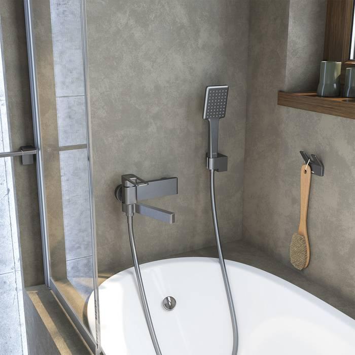 Фото Смеситель для ванны IDDIS Slide SLIGM00i02, графит 3
