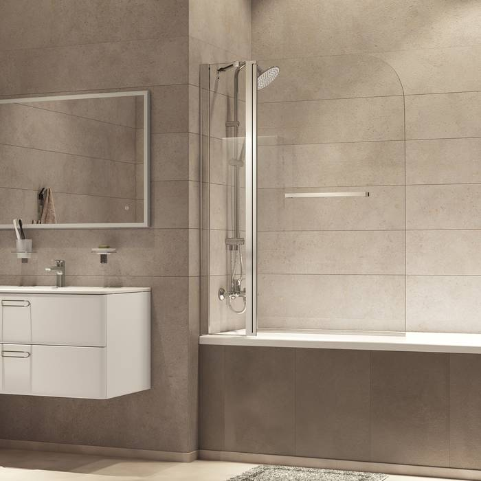 Фото Шторка на ванну, глянцевый алюминиевый профиль 110х140, IDDIS Ray RAY6CS1i90 5