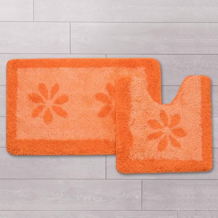 Фото Набор ковриков для ванной комнаты, 50x80+50x50 см, IDDIS 042A580i13 1