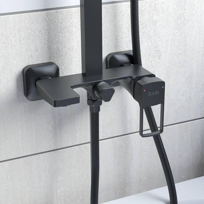 Фото Смеситель с верхним душем, IDDIS Bild BILBL1Fi06, черный 2
