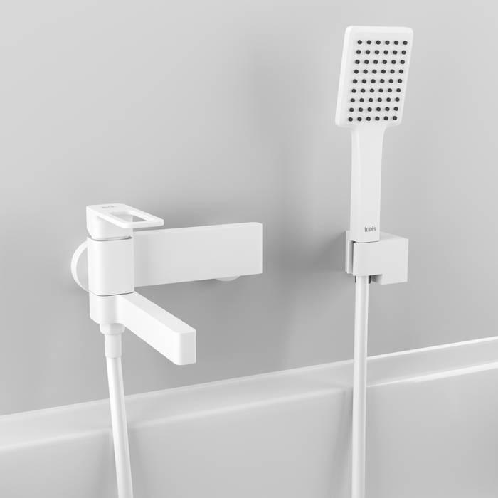Фото Смеситель для ванны матовый, IDDIS Slide SLIWT00i02, белый 2