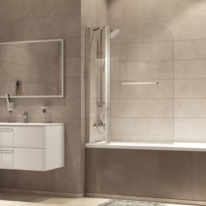 Фото Шторка на ванну, глянцевый алюминиевый профиль 120х140, IDDIS Ray RAY6CS2i90 5