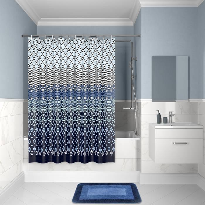 Фото Штора для ванной комнаты, 200x180 см полиэстер, IDDIS Décor D07P218i11 0