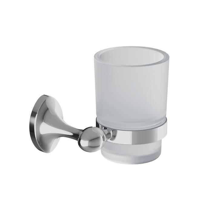 Фото Подстаканник одинарный матовое стекло, сплав металлов, IDDIS Male MALSSG1i45, глянцевый хром 0
