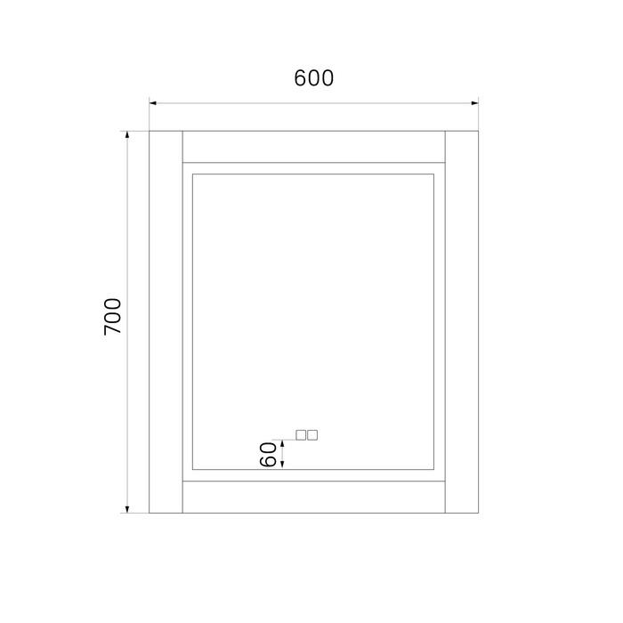 Фото Зеркало с подсветкой, 60 см, Oxford, IDDIS, ЗЛП111 3