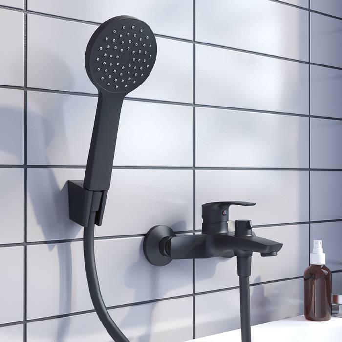 Фото Смеситель для ванны IDDIS Ray RAYBL02i02, черный 3