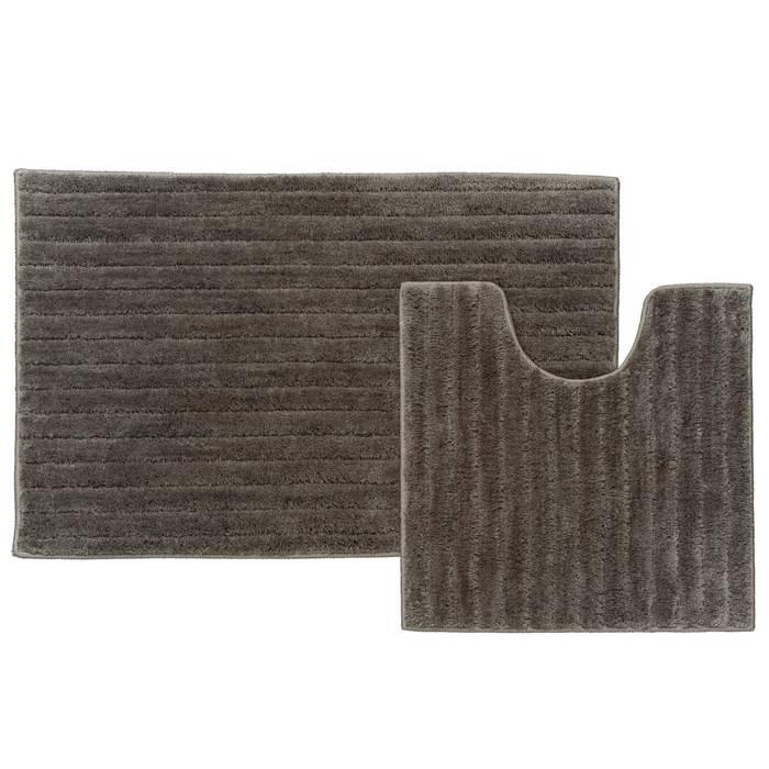 Фото Набор ковриков для ванной комнаты, 55x85 + 50x50 см, микрофибра, IDDIS Basic B17M585i12 0
