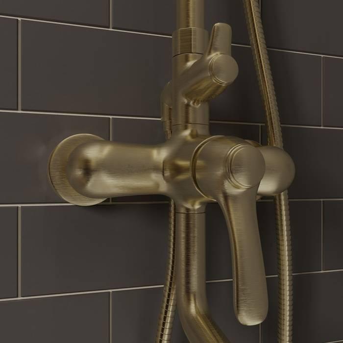 Фото Смеситель для ванны с верхним душем, IDDIS Oldie OLDBR3Fi06 2