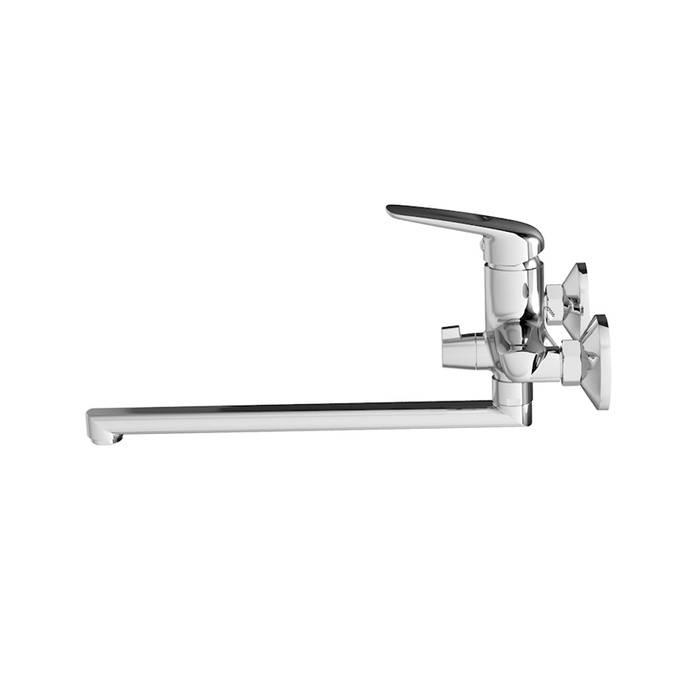 Фото Смеситель для ванны с длинным изливом с керамическим дивертором, IDDIS Male MALSBL2i10WA 2