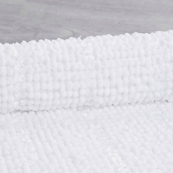 Фото Коврик для ванной комнаты, 40x70 см, шенилл и синель, IDDIS Promo P35M470i12 4