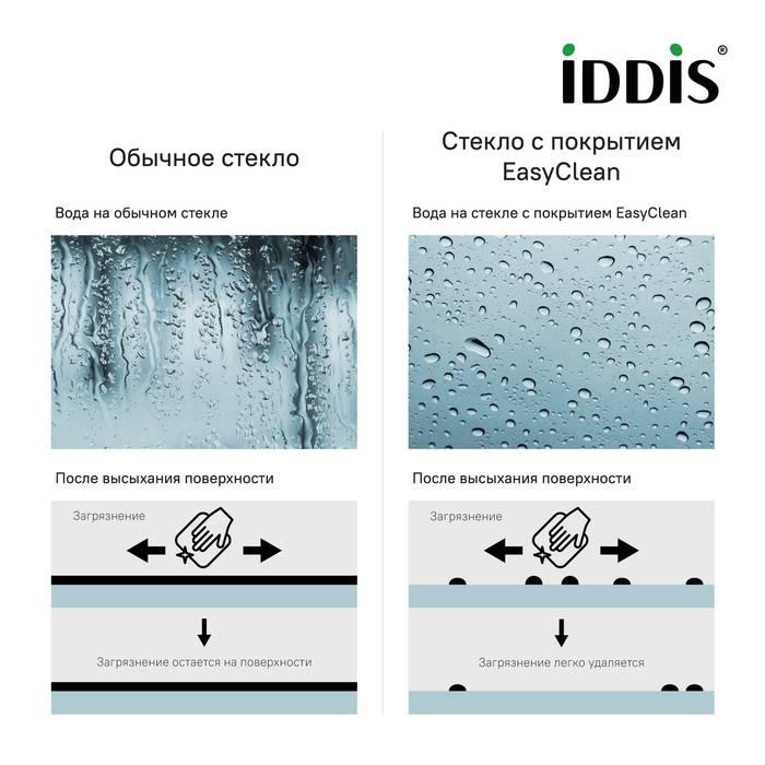 Фото Душевая дверь алюминиевый профиль 110х195 IDDIS Slide SLI6BS1i69, черный 2