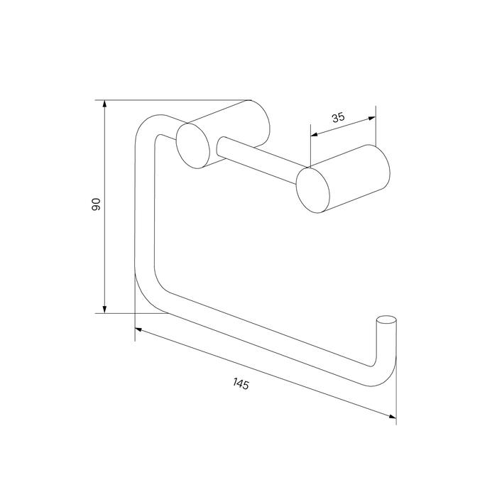 Фото Держатель для туалетной бумаги без крышки, сплав металлов, IDDIS Petite PETBL00i43, черный матовый 2
