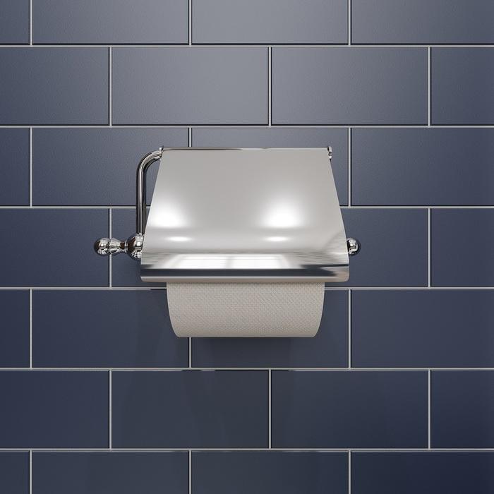 Фото Держатель для туалетной бумаги с крышкой, глянцевый хром, сплав металлов, Retro, IDDIS, RETSSC0i43 3