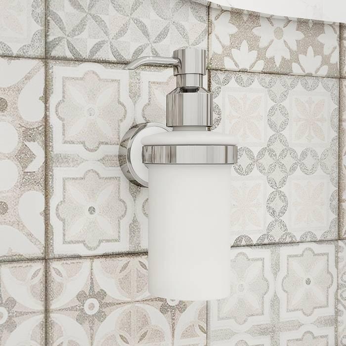 Фото Дозатор для жидкого мыла, матовое стекло, латунь, IDDIS Calipso CALMBG0i46 1
