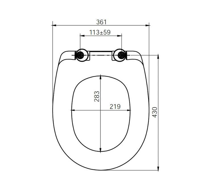 Фото Сиденье для унитаза soft дюропласт IDDIS DP Seat Cover ID 136 Dp Sc 1