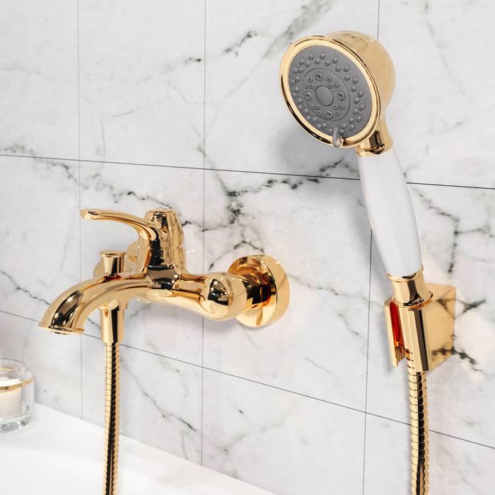 Фото Смеситель для ванны IDDIS Oldie OLDYG00i02, желтое золото 1